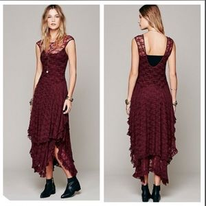 Free People French Courtship Slip, Burgundy NWT